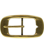 AC0161 Center-Bar Brass Plated Shiny Belt Buckle - $7.87