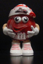 M&M'S Red Mini's Candy Dispenser with Striped Stocking Hat - BNIP - $10.00