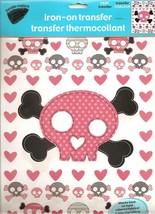 Transfer-Mations Pink Skull & Crossbones Iron On Transfer Sheet - $7.50