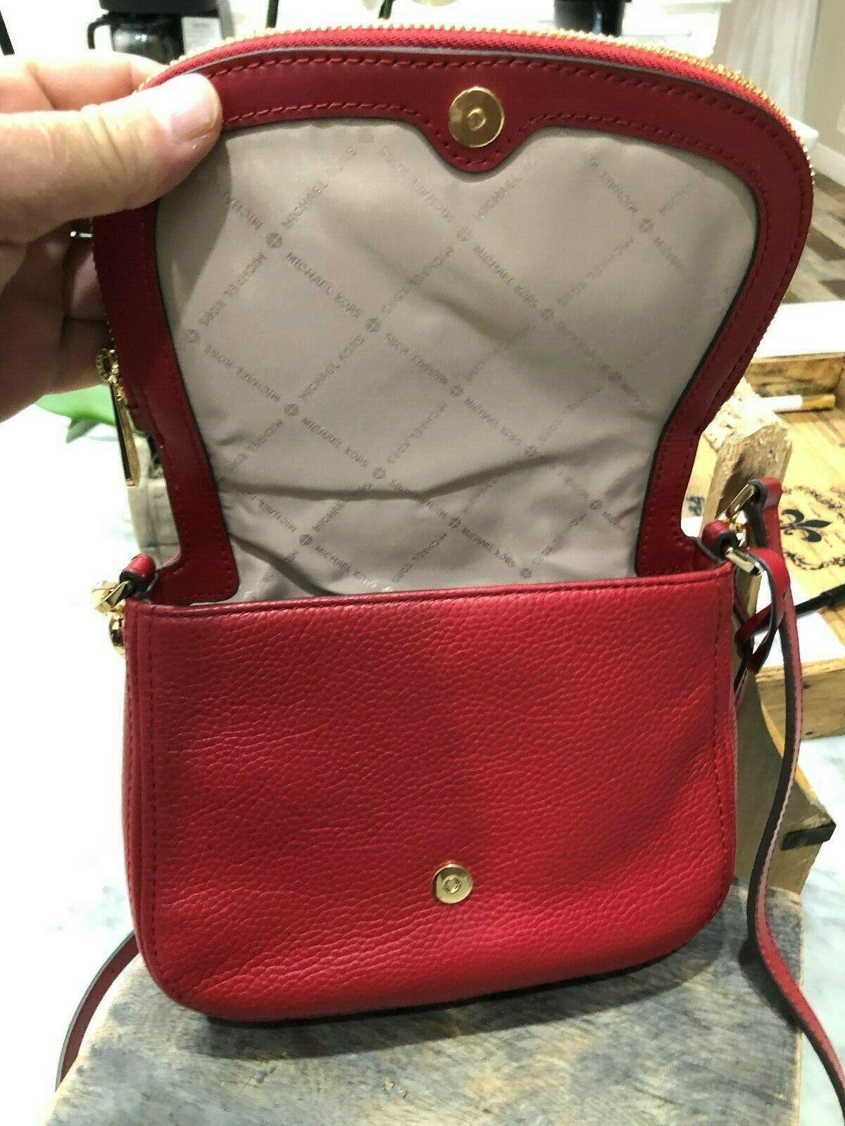 Michael Kors Classics Bedford Pocket Flap Small Crossbody Bag Pebbled $298 New image 5