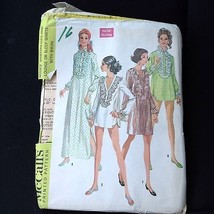 Vtg 1968 Pattern Boho McCalls #9361 Uncut Shirt Dress Sleep Night Shirt ... - $12.38