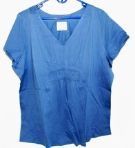 Women's Plus Light Weight Banded Princess Tunic in Grey/ Blue 22/24 - $12.34