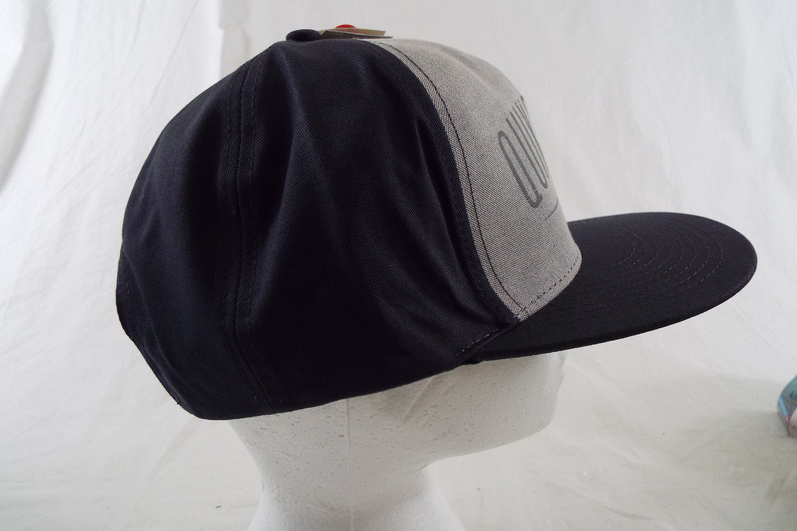 Quiksilver Hat SnapBack Black with Gray Panel NWT One Size