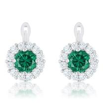 Emerald Simple Drop Earrings - $21.00