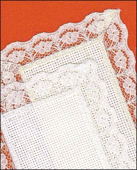 8757 white lace bookmark janlynn