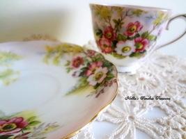 Royal Albert Wild Rose Vintage Fine Bone China, English Floral Antique T... - $49.99