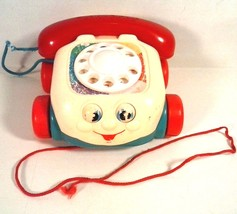 VINTAGE FISHER PRICE PULL TOY PHONE - $4.90