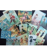 Lot of 14 Vintage Seashore Greeting Card DIE CUTS for CARD MAKING BB24a - $4.34