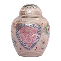Unique Lotus Heart Mini Cremation Keepsake Urn Ashes, Memorial Keepsake Urns - $44.40
