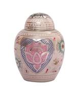 Unique Lotus Heart Mini Cremation Keepsake Urn Ashes, Memorial Keepsake ... - $34.99