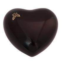 Maroon Artisan Mini Heart Keepsake Urn, Flower Cremation Urns Ashes - $57.20