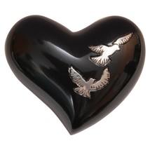 Flying Doves Mini Heart Keepsake Urn for Cremain Ashes, Dove Memorial Urns - $57.20