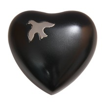 Aria Ascending Dove Heart Keepsake Urn Ashes, Funeral Heart Urns - $57.20