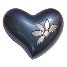 Sparkling Flower Mini Heart Keepsake Urn Ashes, Flower Cremation Urns - $57.20