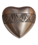 Autumn Leaves Heart Keepsake Urn for Human Ashes, Mini Cremation Urns - $49.99