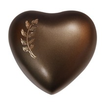 Aria Wheat Heart Keepsake Urn Ashes, Memorial Heart Urns - $57.20