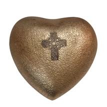 Celtic Cross Mini Heart Keepsake Urn for Human Ashes, Cross Memorial Urns - $57.20