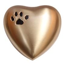 Paw Print Golden Mini Heart Keepsake Urn for Ashes, Pet Memorial Urns - $57.20