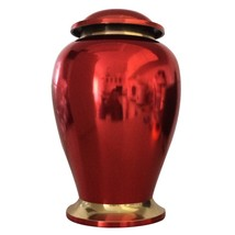 """Reading Ruby Red 7"""" Inches Funeral Urn for Human Ashes, Medium Memorial Urns - $170.00"""