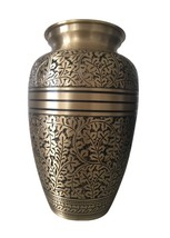 """Antique Nickel Engraved 7"""" Cremation Urn for Ashes, Medium Urns Ashes - $154.00"""