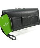 Kate Spade Logo Wristlet Genuine Black Leather Purse Bag Villabella Ave ... - $128.69