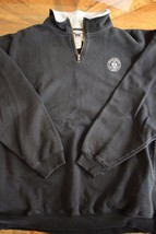 Us Army G.I. Black Heavy Track Suit WARM-UP Mock T-NECK Pull Over Jacket Size Lg - $28.70