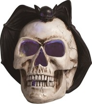 """Resin 12"""" Skull with Bat LED Screamer with Sound Halloween Decoration - $39.99"""