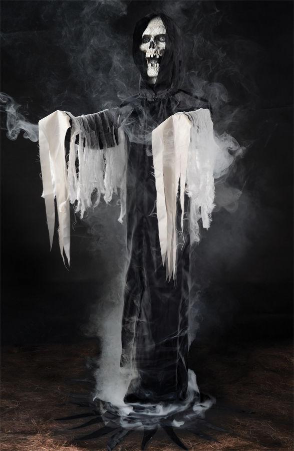 REAPER FOGGER PHANTOM IN BLACK HAUNTED HOUSE HALLOWEEN PROP Fogger Fog Machine