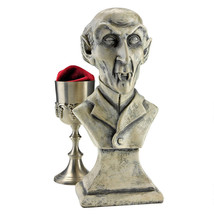 Haunted House Decor Count Orlok Bloodthirsty Vampire Fanged Male Bust Sc... - £32.84 GBP