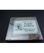 NEW Family Tree Maker's Family Archives World Family Tree Super Bundle 6 - $14.84