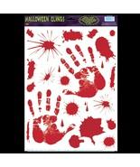 Gothic Horror Prop Dexter Psycho BLOODY HAND PRINTS CLINGS Halloween Dec... - $4.53
