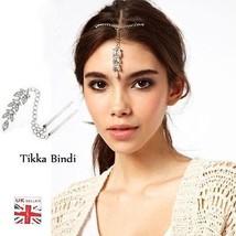 DE MARIAGE Maang BINDI TIKKA front COIFFURE STR... - $7.85