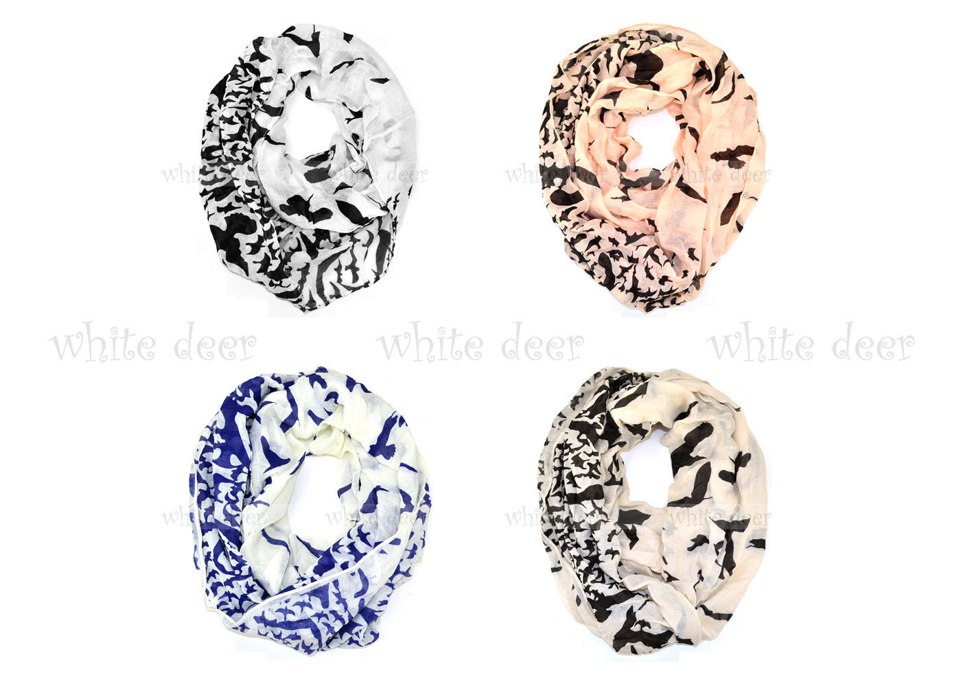 Primary image for Sea Eagle Print Wrinkle Block Circle Loop Wrap Infinity Scarf Casual Fashion