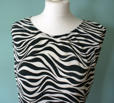 Abstract Zebra blouse, zebra top, black and white stripes - $17.00