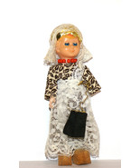 Vintage Collectible Doll - Folk Costume, hard plastic doll, oriental style - $14.00