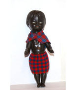 Vintage Collectible Doll -  hard plastic black doll, creepy doll - $49.00