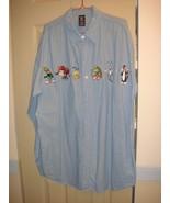 Warner Bros Studio Store Shirt~1 LG Denim Long Sleeve Shirt - $19.99