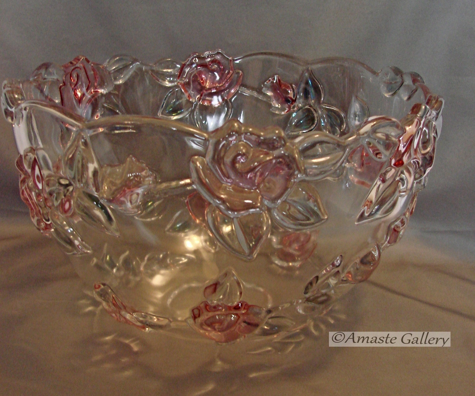 Primary image for Mikasa Centerpiece Table Bowl with Raised Roses and Leaves