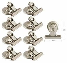 Silver Magnet Refrigerator Hook Clips Home Kitchen Office Organization S... - $7.66+