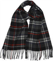 Winter or Fall Cold Weather Irish Plaid Long Cashmere Feel Scarf Black R... - $12.87