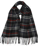 Winter or Fall Cold Weather Irish Plaid Long Cashmere Feel Scarf Black R... - £9.20 GBP