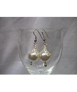PEARL AND SILVER EARRINGS - $12.00