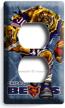 Chicago Bears Running Angry Football Power Outlet Receptacle Wall Plate Man Cave - $8.99