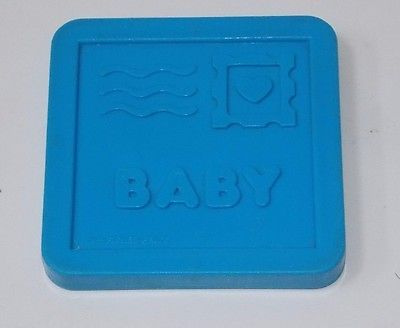 Fisher Price 1989 Mailbox Baby Sorter Toy Blue Mail Postcard Replacement Piece
