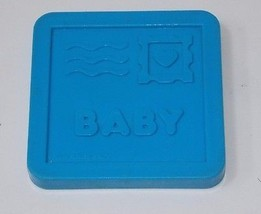 Fisher Price 1989 Mailbox Baby Sorter Toy Blue Mail Postcard Replacement... - $7.91