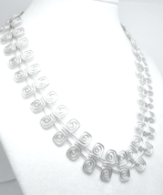 "Artisan Crafted Sterling Silver 17"" Square Swirl Design Necklace - $95.00"