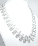 "Artisan Crafted Sterling Silver 17"" Square Swirl Design Necklace - $93.00"