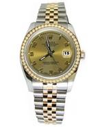 SS & gold Rolex watch datejust Arabic dial jubi... - $3,873.78