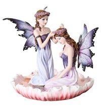 6 Inch Purple Winged Fairy Sisters with Flower ... - $45.43