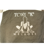 Tony K Melrose Black and Silver Shopping Bag Shoe Bag Anything Bag - $12.00